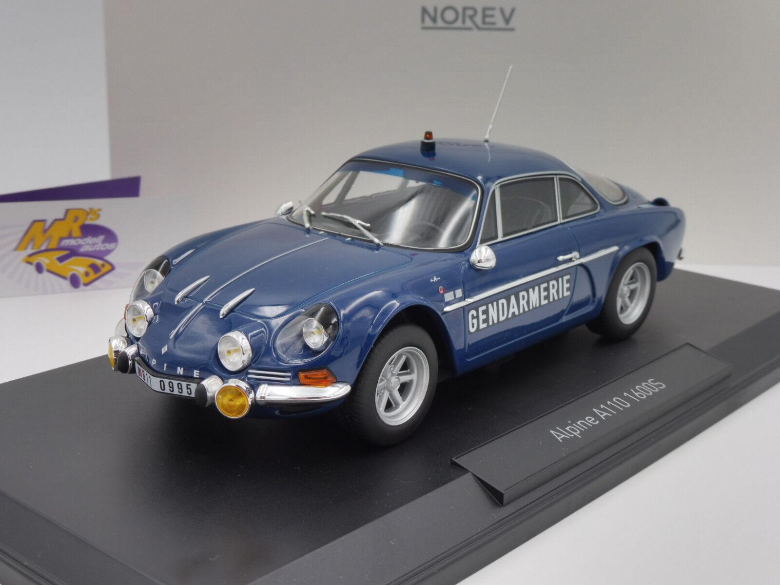 NOREV 185301   Renault Alpine a110 1600 S année-modèle 1971  gendarmarie  1 18 NEUF