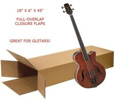 Large 18x6x45 Electric Guitar Keyboard Shipping Packing Moving Side Loading Box