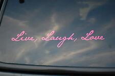 Live Laugh Love Vinyl Pink Sticker Decal Peace  Car Yoga Meditation Health V33