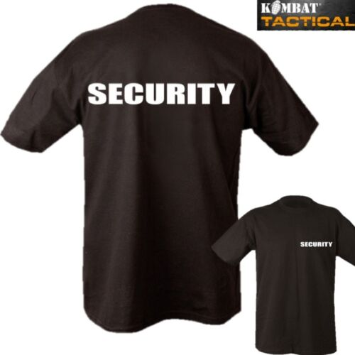SECURITY T-SHIRT 2 SIDED PRINT MENS S-2XL 100/% COTTON DOORMAN WORKWEAR SECURITY
