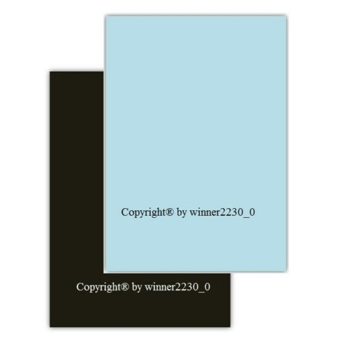 30 Sheet Light Blue or Black 210GSM A4 Cardstock Cardboard Thick Double Sided