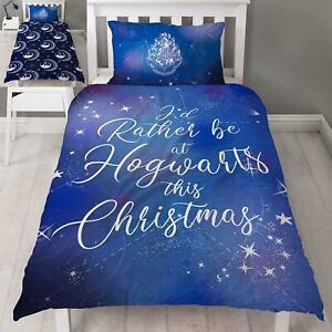 Harry-Potter-Celeste-Simple-Noel-Set-Housse-de-Couette-Livres-Films-Ventilateurs