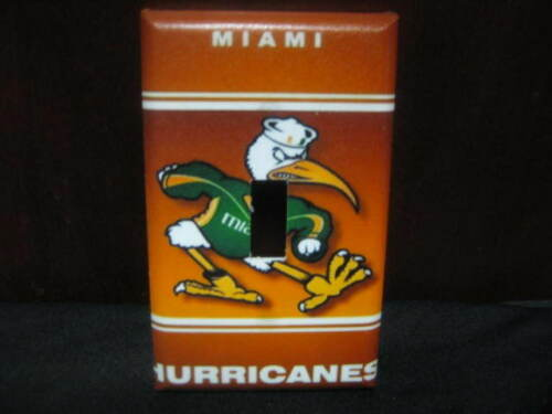 Miami Hurricanes Light Switch Wall Plate Cover #1 Variations Available