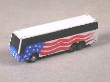 N Scale USA Flag Touring Bus