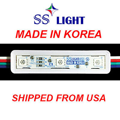 100PCS//50FT 9cm 3 WHITE LED MODULE-KPL  12V DC SS Light Korea