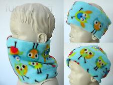 Infant baby OWL BIRD NECK WARMER Animal Boy Girl fleece scarf snood kids toddler