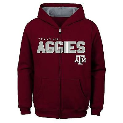 "Small Crazy Price Outerstuff Ncaa Texas A&m Aggies Boys 4-7""stated"" Full Zip Hoodie 4"