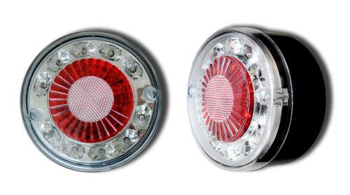 2 x 19 LED 12V REAR LIGHTS HAMBURGER TAIL LAMPS TRUCK LORRY CAMPER VAN MOTORHOME