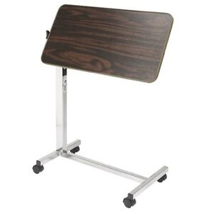 Over Bed Table Tilt Top Desk Laptop Computer Walnut