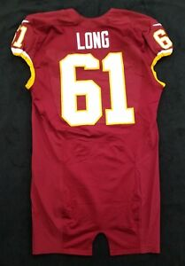 new concept e69d7 43083 Details about #61 Spencer Long of Washington Redskins NFL Game Issued Worn  Jersey