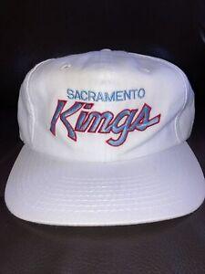 Vintage-90s-Sacramento-Kings-Sports-Specialties-Script-Snapback-Hat-White-Dome
