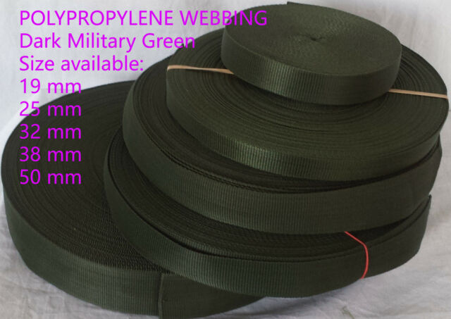 "25 3//4/"" Military Foliage Green Webbing PLUS 3//4/"" FG Buckles LAST ONES 75 Yds"