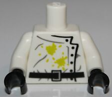 LeGo White Lab Coat Black Buttons Stained Scientist  NEW