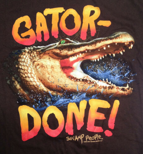 Brown Gator Done Men/'s Graphic T-Shirt History/'s Swamp People