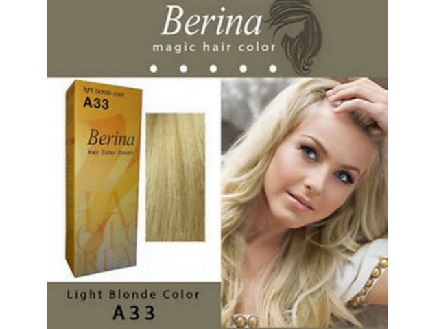 Beautiful Berina Permanent A33 X 2 Boxs Color Hair Dye Cream Light Blonde