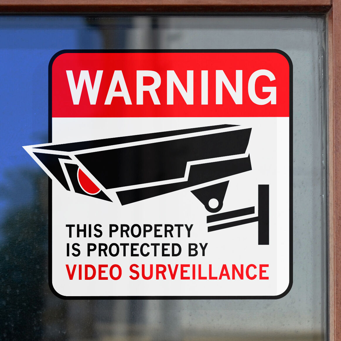 4 Home Alarm Security Surveillance Decal Window Door