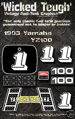YAMAHA 1983 YZ100 WICKED TOUGH DECAL GRAPHIC KIT
