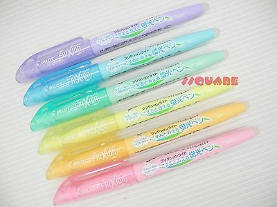 6 Soft Colors x Pilot FriXion Light Erasable Highlighter Highlighting Markers