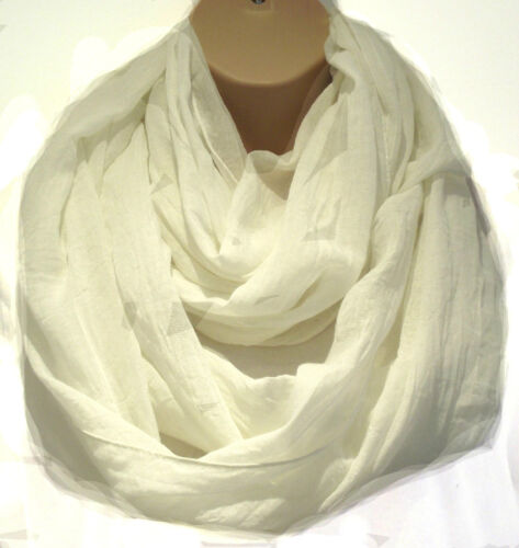 Super Huge Oversized Cream Circle Loop Scarf Infinity Snood Statement Scarf