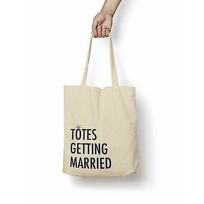 Totes Getting Married Tote Bag 5oz Premium Quality Natural Cotton Shopper