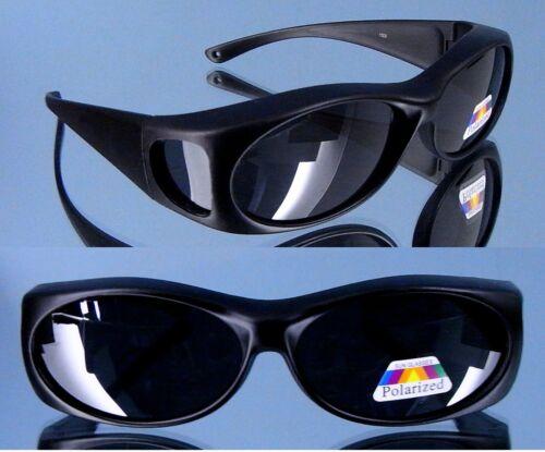 Polarisierte Überzieh Sonnenbrille für Brillenträger 400UV Schutzpaß 10143H matt