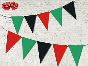 Afghanistan-Flag-Patriotic-Theme-Bunting-Banner-15-flags-single-colours-National