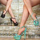 Neu Luxus Damenschuhe Party Sandalen High Heels Plateau Stiletto SeXy Glitzer