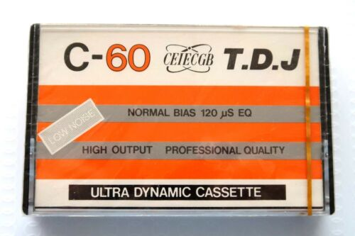 T.D.J. C60 NORMAL POSITION TYPE I BLANK AUDIO CASSETTE TAPE TDK D CLONE