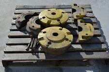 John Deere 4400 Combine Rear Wheel Weight Set 4 H78062 2 H93849 6600 7700