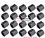 20 trozo de tapas de tornillos de silicona rosa sw21
