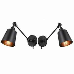 Plug In Wall Lamp Swing Arm Wall Lamp With Switch Mounted Wall Light Fixtures Ebay