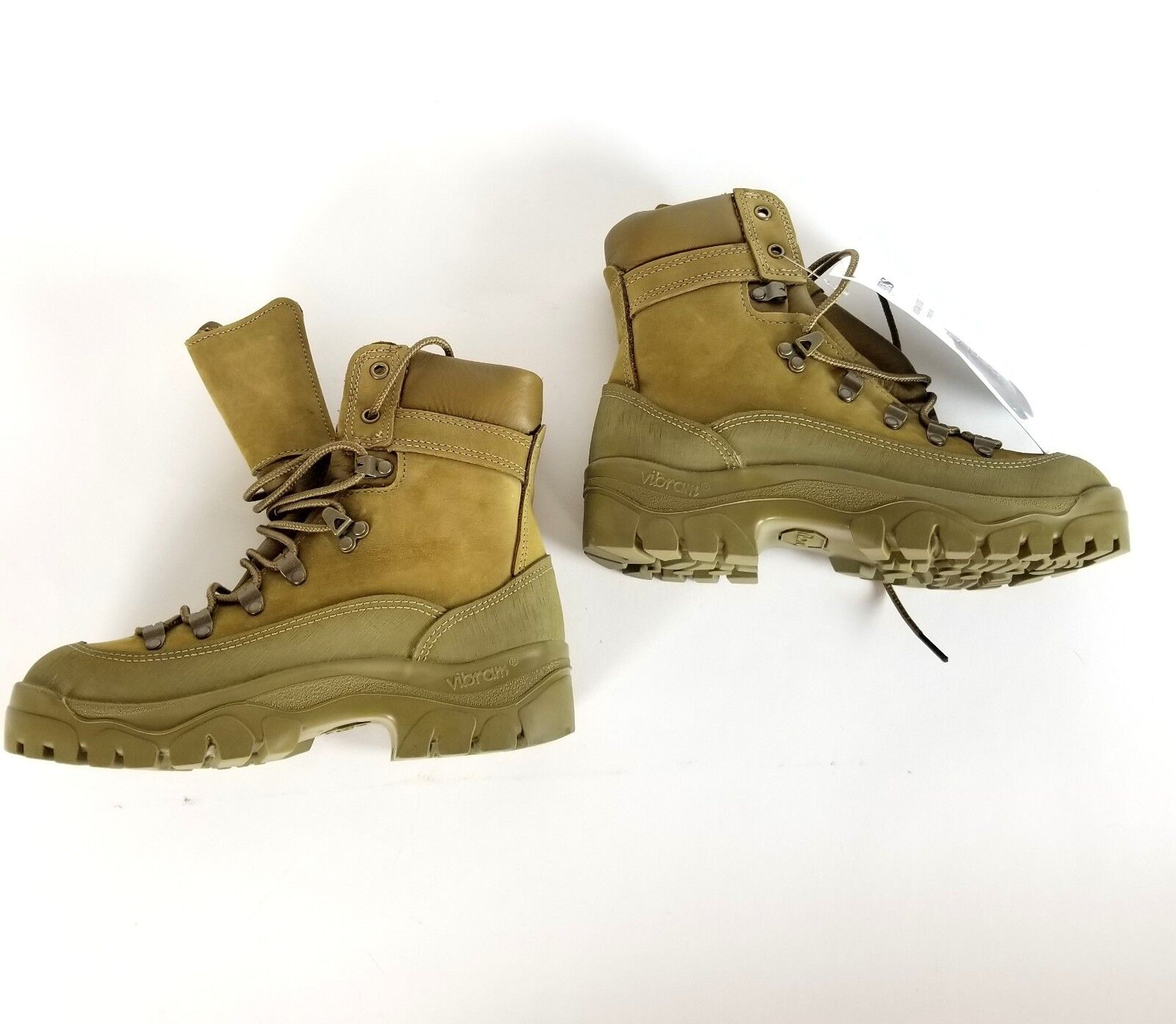 BATES Temperate Weather Hiker Olive Mohave Leather Waterproof Boots Sz 5 R 38