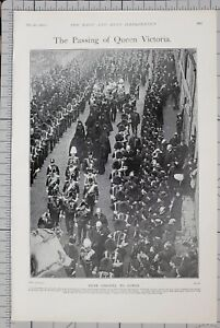 1901-PRINT-PASSING-OF-QUEEN-VICTORIA-FROM-OSBORNE-TO-COWES