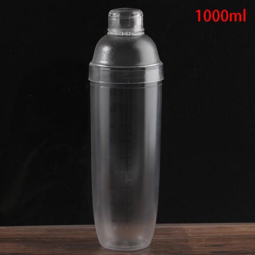 Plastic Cocktail Shaker Mixer Wine Cup Martini Bartender Transparent DrinkPLTS