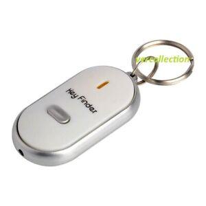 Porte-cles-siffleur-Anti-perte-Alarme-Localisateur-Key-Finder-Couleur-BLANC