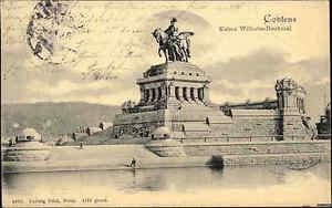 Coblence Coblenz 1904 Kaiser Wilhelm Monument, Tampon Du Rouge Coq Arbenberg-afficher Le Titre D'origine