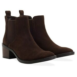 Chelsea euro Donna 37 Suede 90 Redfoot Uk Slip On Victoria Rrp Marrone Boots 5055412557777 4 twZvnqx0