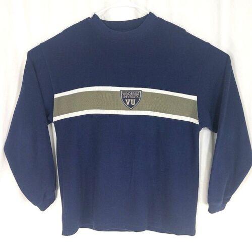 Mens Vanderbilt University Blue Gray Wht Crewneck