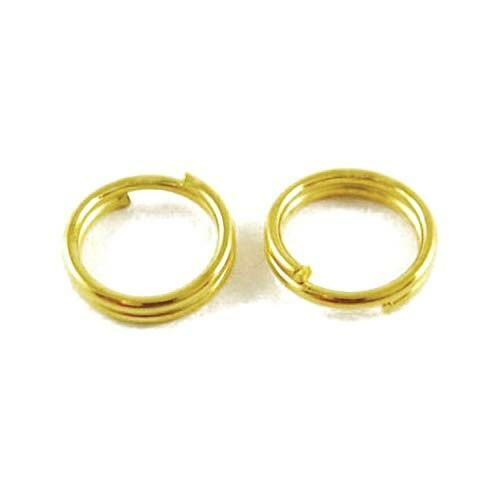 Golden Plated Iron Round Split Rings 0.7 x 6mm HA11635 Packet 350