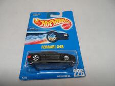 Hot Wheels 1995 Blue Card #226 Ferrari 348  Black