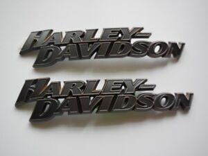 Harley-Davidson-Tankembleme-Tank-Embleme-Tankschilder-14100955-amp-14100956