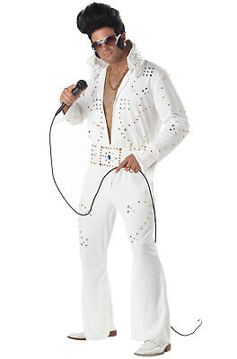 Pompadour Wig Adult 70s Elvis Costume Halloween Fancy Dress