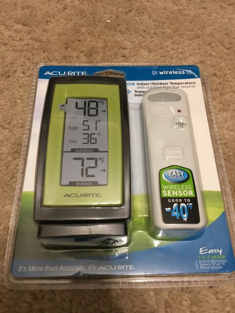 ACURITE MY BACKYARD WEATHER THERMOMETER (WIRELESS) Indoor ...