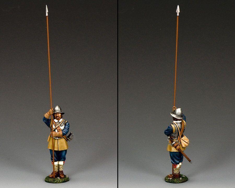 KING AND COUNTRY English Civil War Standing Pikeman (Royalist) PnM006B