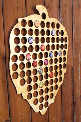 Hops Beer Cap Map Bottle Cap Map Collection Gift Art Bar Decor Beer Lover