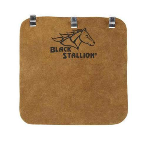 Black Stallion HB Side Split Cowhide Welding Helmet Bib with Metal Clips