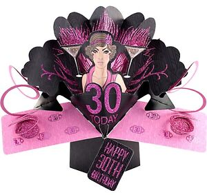 Image Is Loading 3D Pop Up Card Happy 30th Birthday Girl