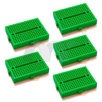 5pcs Green 170 Tie-point Prototype Solderless PCB Breadboard for Arduino DIY