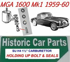 """MGA 1600 & Deluxe Mk2 1958-60 - H4 1½""""  Carb F/Ch HOLDING UP BOLT & SEALS MG A."""
