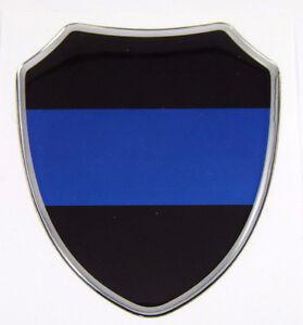 Thin Blue line police Domed decal Shield Emblem domed decal Bike Car sticker   eBay